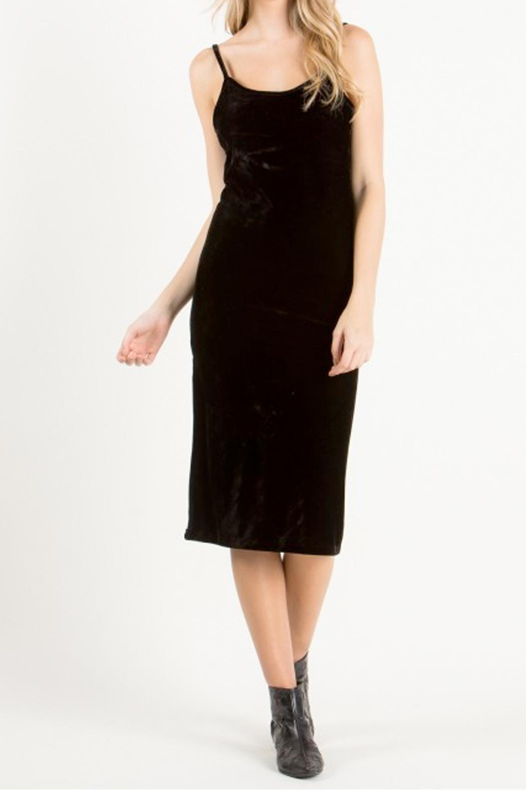 the Hanger Black Velvet Dress - Main Image