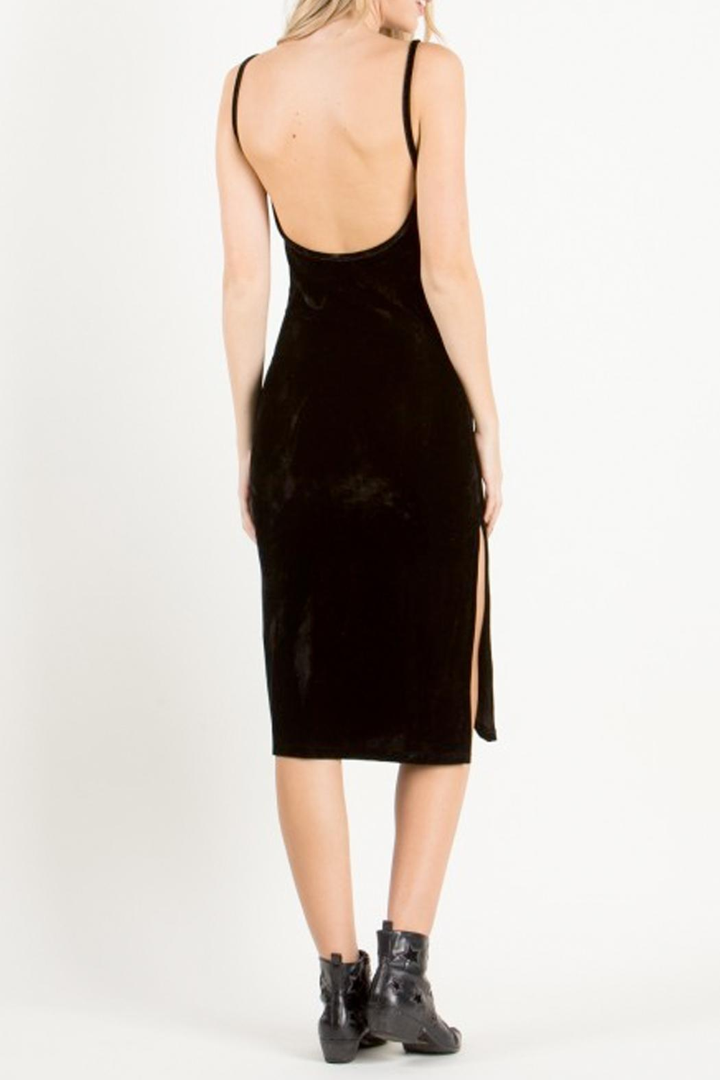 the Hanger Black Velvet Dress - Front Full Image
