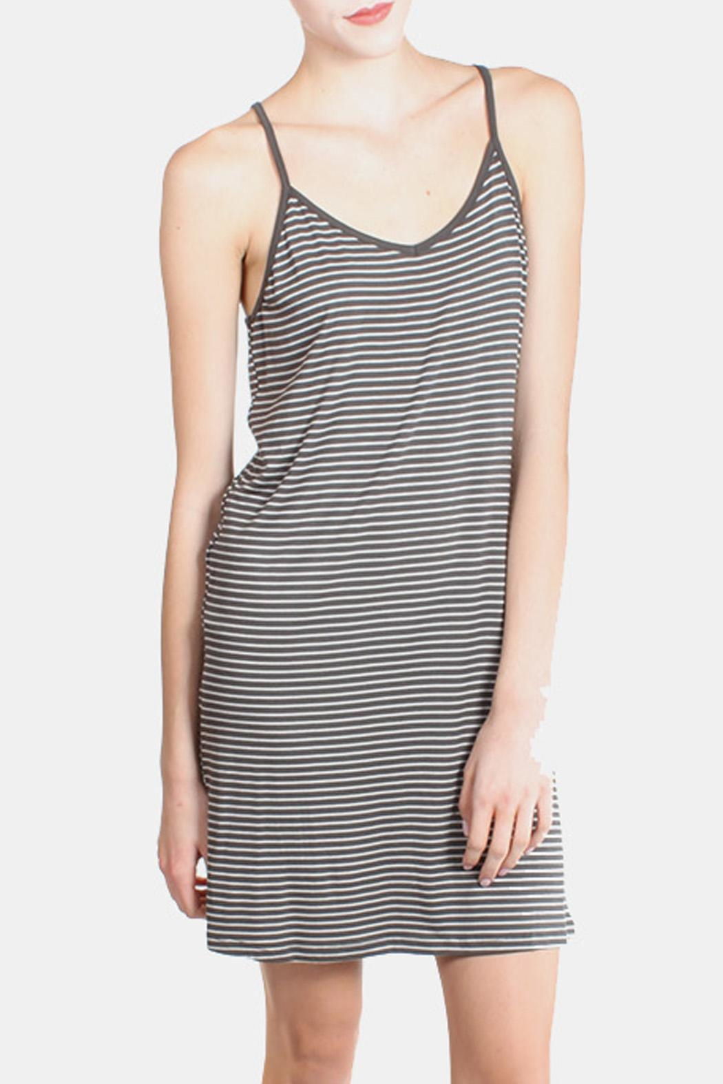 the Hanger Charcoal Striped Cami Dress - Main Image