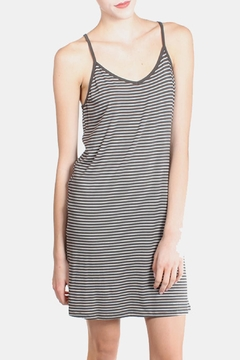 Shoptiques Product: Charcoal Striped Cami Dress