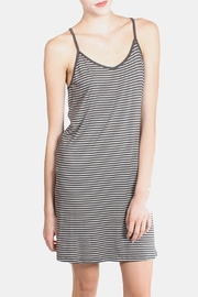 the Hanger Charcoal Striped Cami Dress - Front cropped