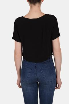 Shoptiques Product: Embroidered Box Crop Top