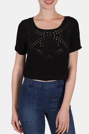 the Hanger Embroidered Box Crop Top - Product Mini Image
