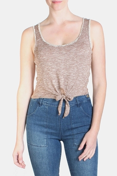 the Hanger Mocha Stitched Crop Top - Product List Image