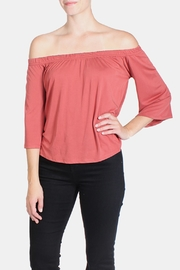 the Hanger Off Shoulder Coral Blouse - Product Mini Image
