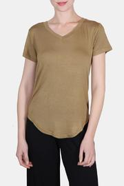 the Hanger Olive Bridget V Neck Tee - Product Mini Image