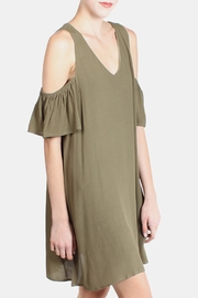 the Hanger Olive Cold Shoulder Dress - Product Mini Image