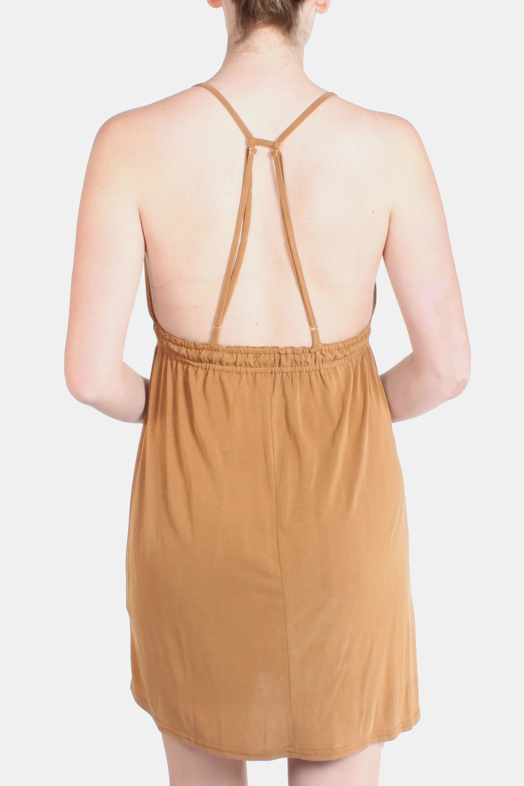 the Hanger Orange Easy Wear Dress - Back Cropped Image
