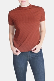 the Hanger Rust Striped Top - Product Mini Image