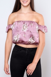 the Hanger Satin Off-Shoulder Top - Product Mini Image