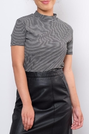 the Hanger Striped Mock Neck Top - Front cropped