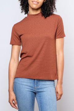 the Hanger Striped Mock Neck Top - Product List Image