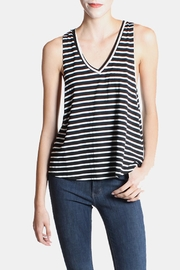 the Hanger Striped Tank In Black - Product Mini Image