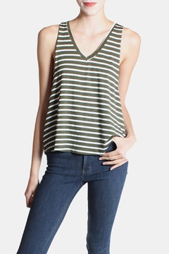 Shoptiques Product: Striped Tank In Olive