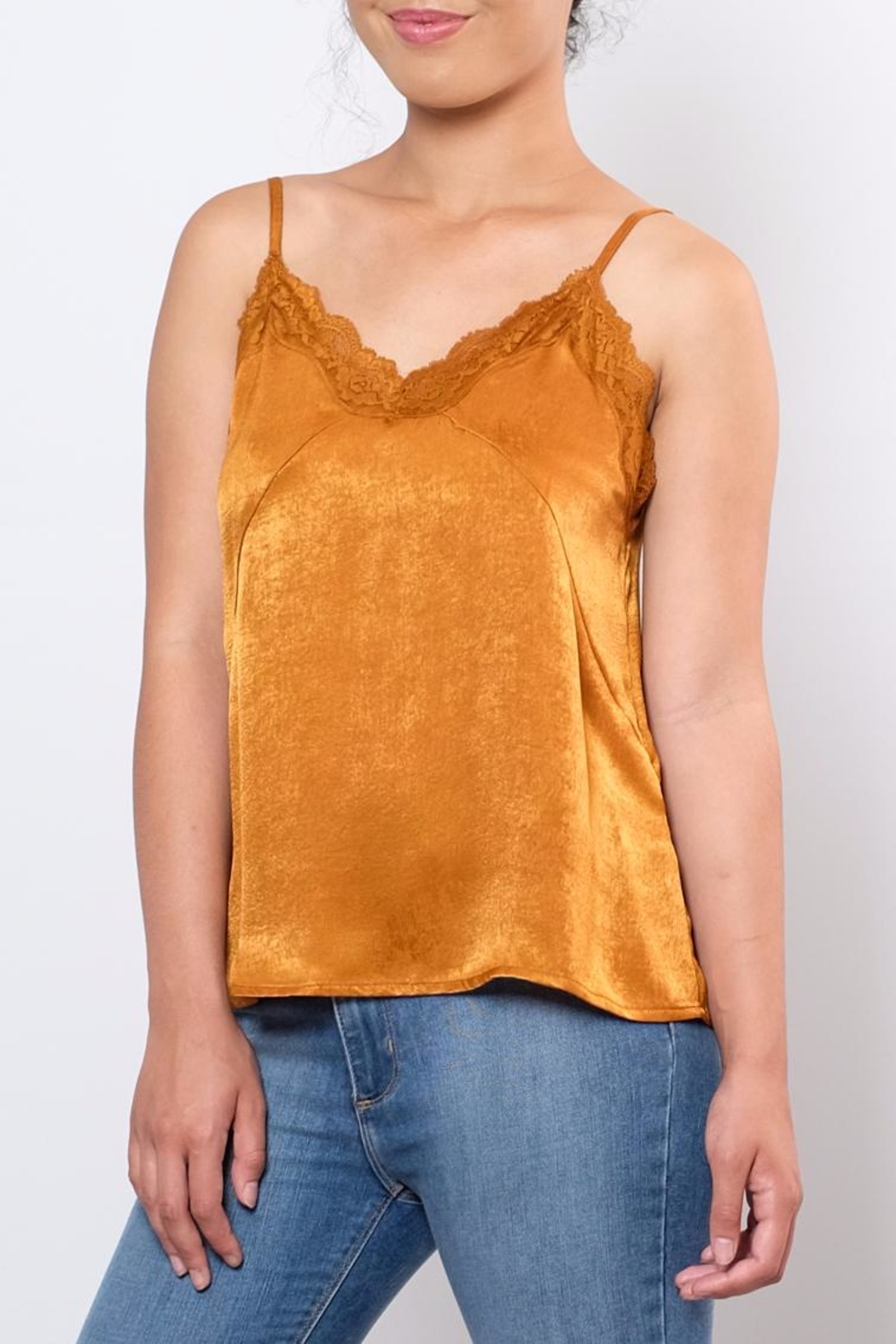 the Hanger Willow Satin Cami - Front Full Image