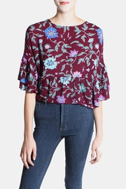the Hanger Wine Flutter Sleeve Blouse - Product Mini Image