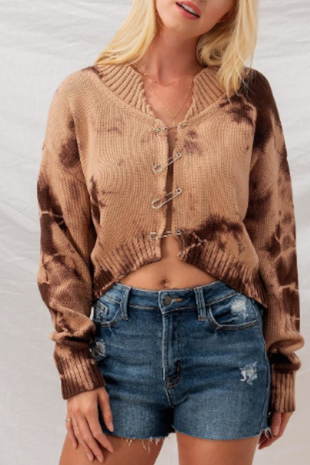 The Hanger Boutique  Safety Pin Cardigan - Main Image