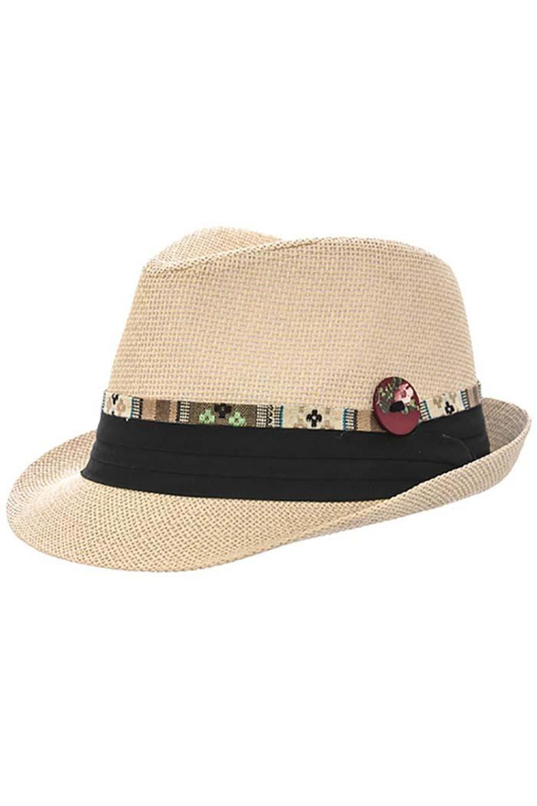 The Hatter Company Aztec Ribbon Fedora - Front Cropped Image