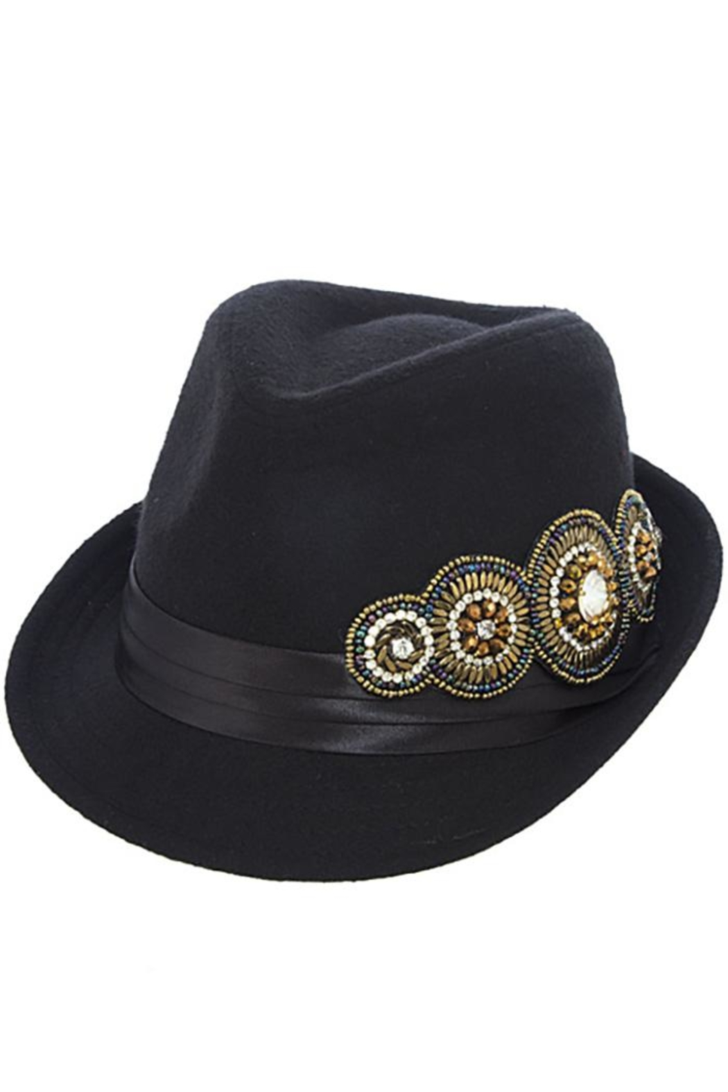 The Hatter Company Bead Accent Hat - Front Cropped Image