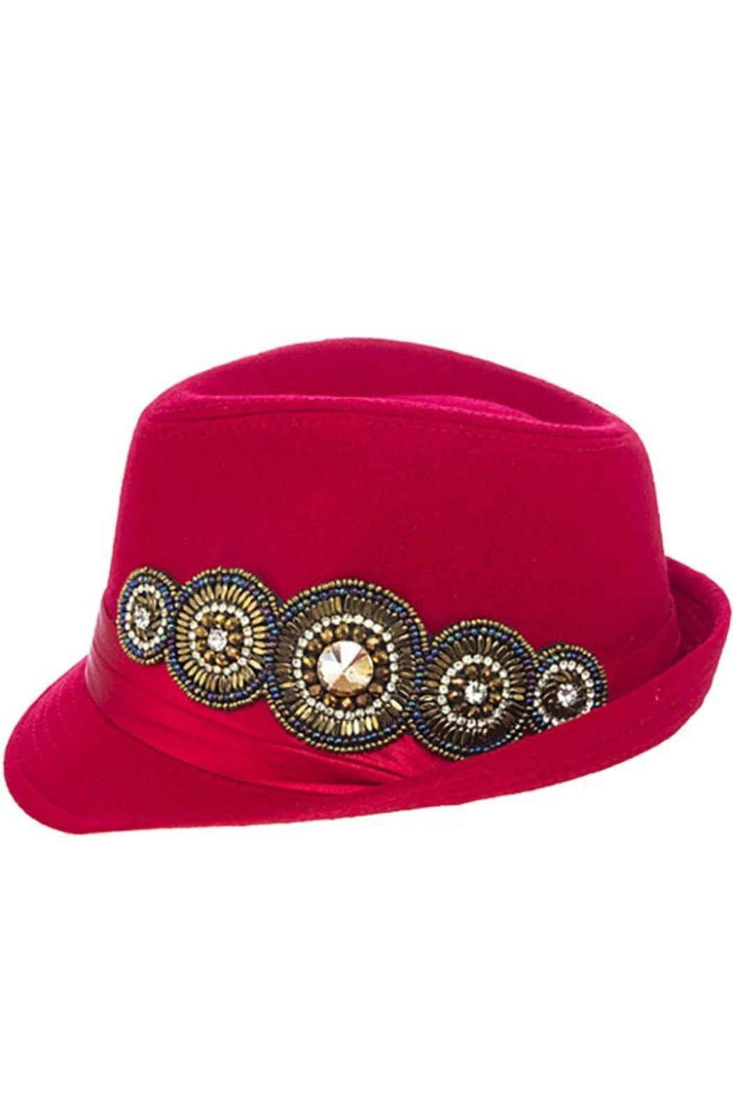 The Hatter Company Bead Accent Hat - Front Full Image
