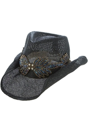 The Hatter Company Beaded Leaf-Accent Hat - Product Mini Image