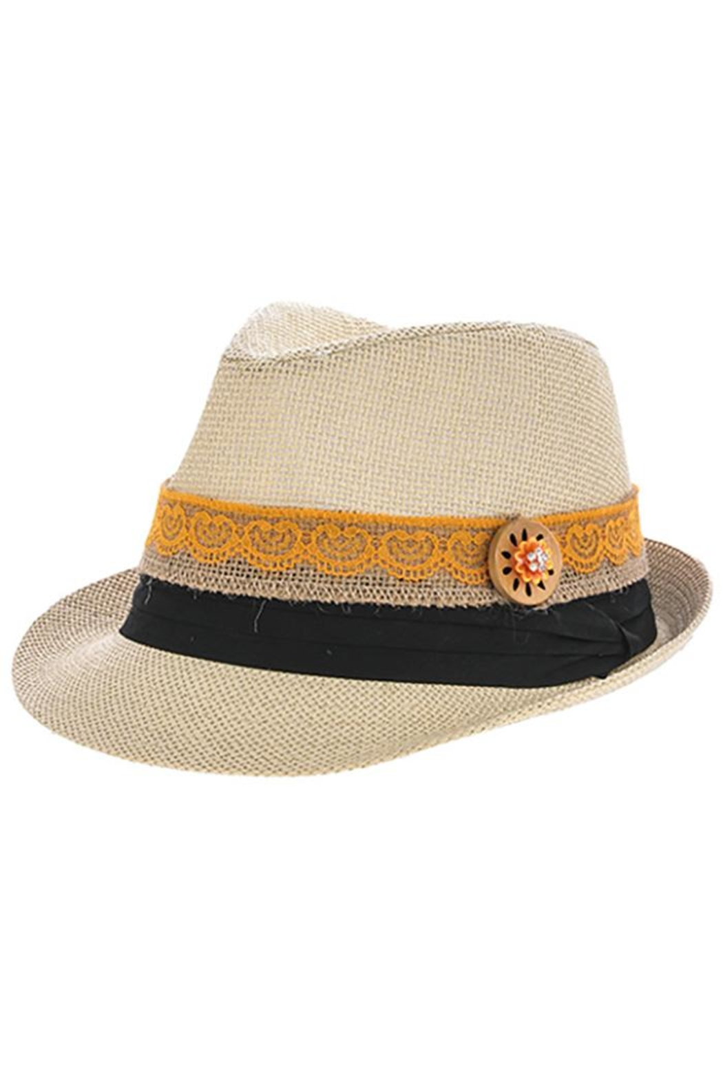 The Hatter Company Button Lace Fedora - Front Cropped Image