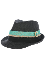 The Hatter Company Button Lace Fedora - Front cropped