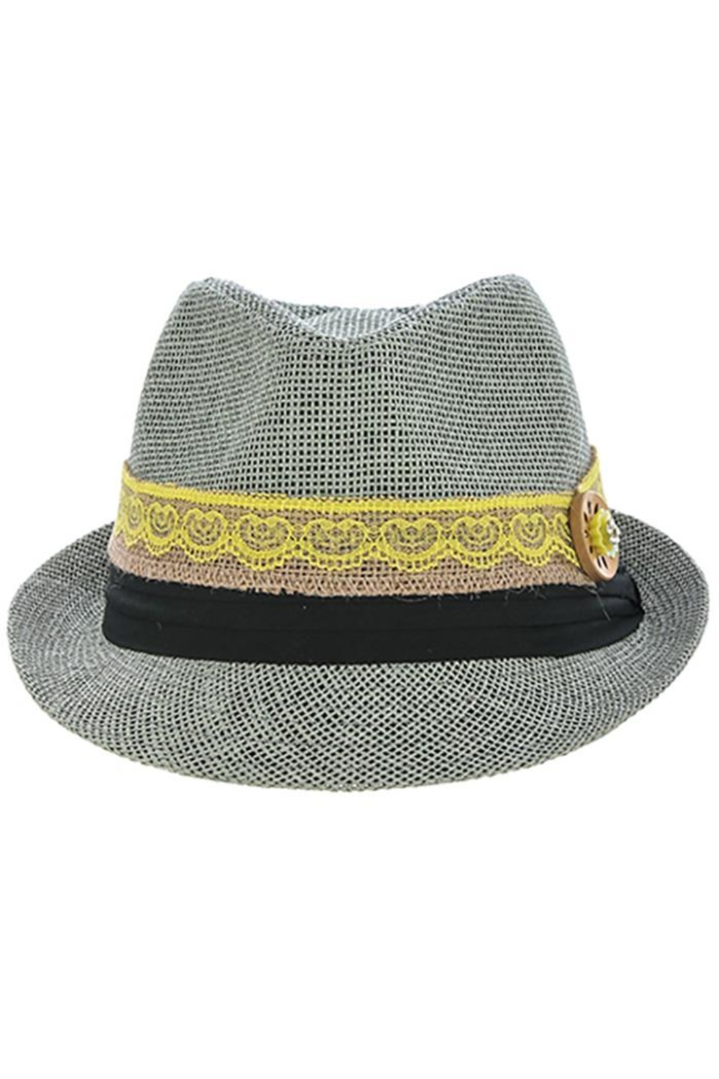 The Hatter Company Button Lace Fedora - Side Cropped Image