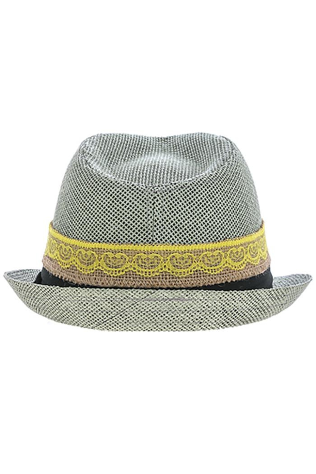 The Hatter Company Button Lace Fedora - Front Full Image