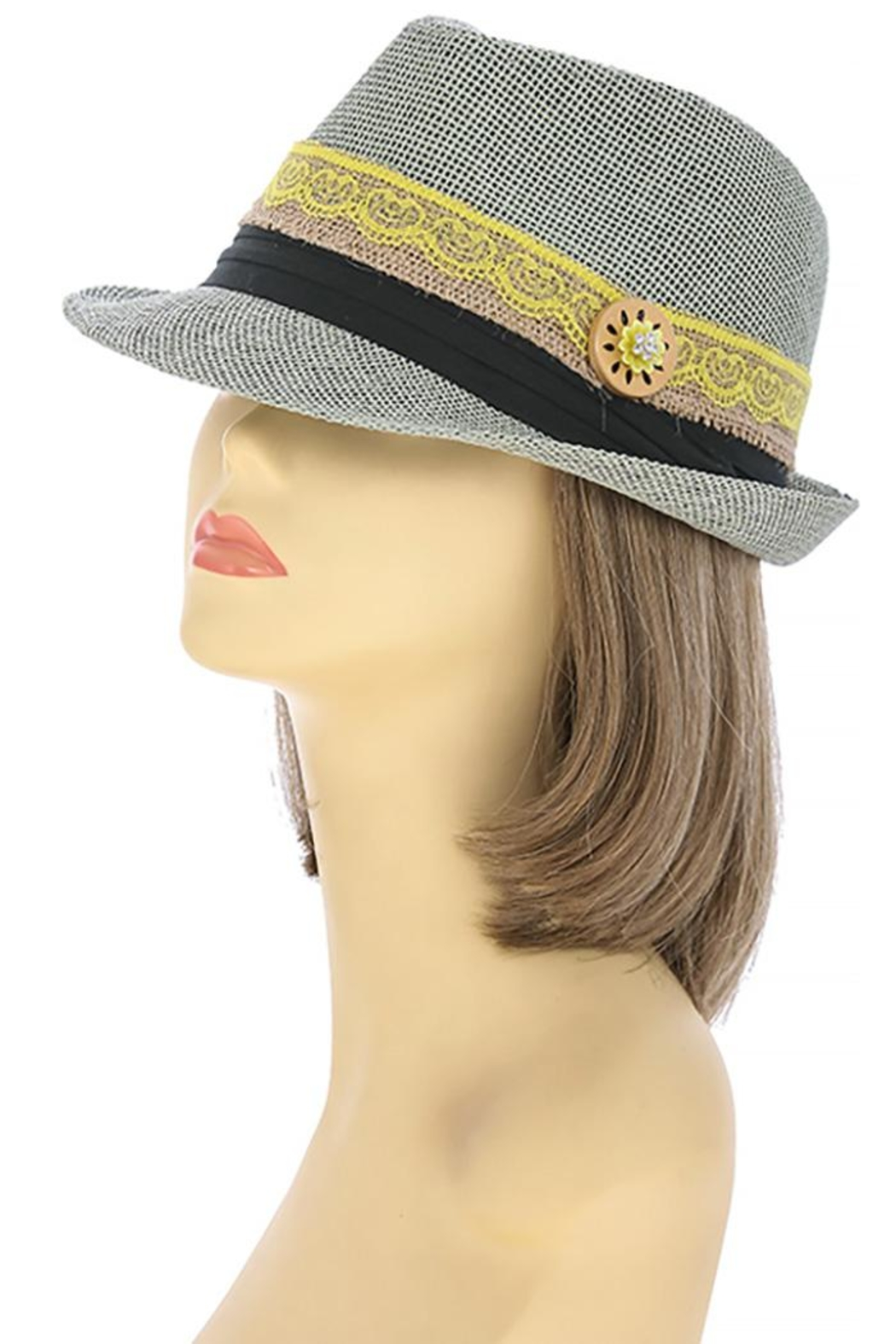 The Hatter Company Button Lace Fedora - Main Image