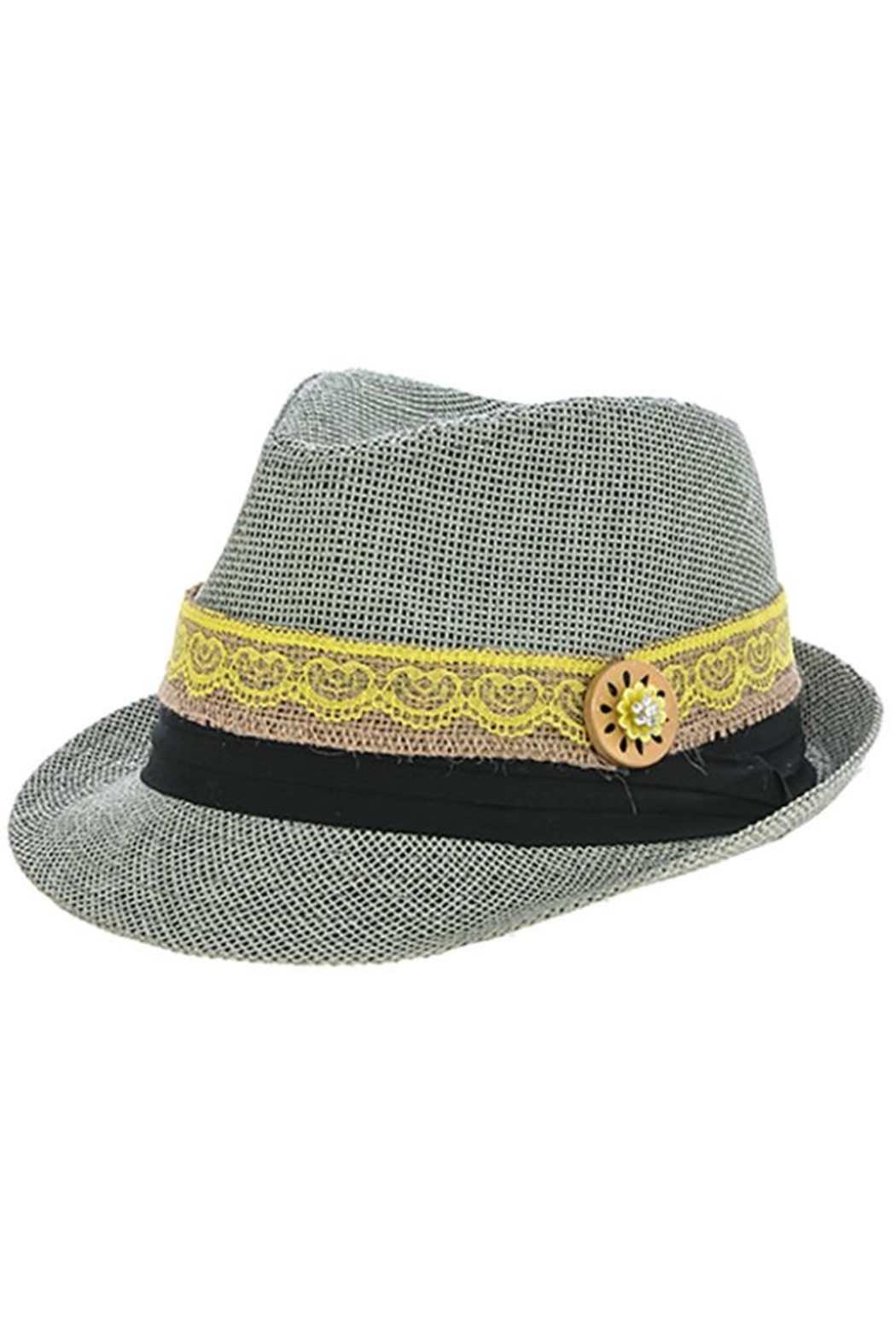 The Hatter Company Button Lace Fedora - Back Cropped Image