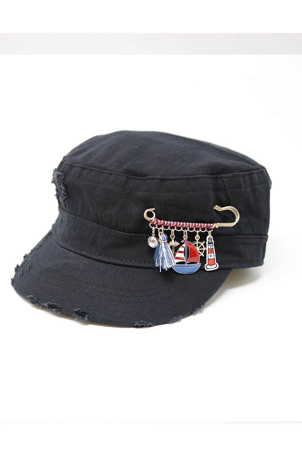 The Hatter Company Charm Pin Military-Hat - Front Cropped Image