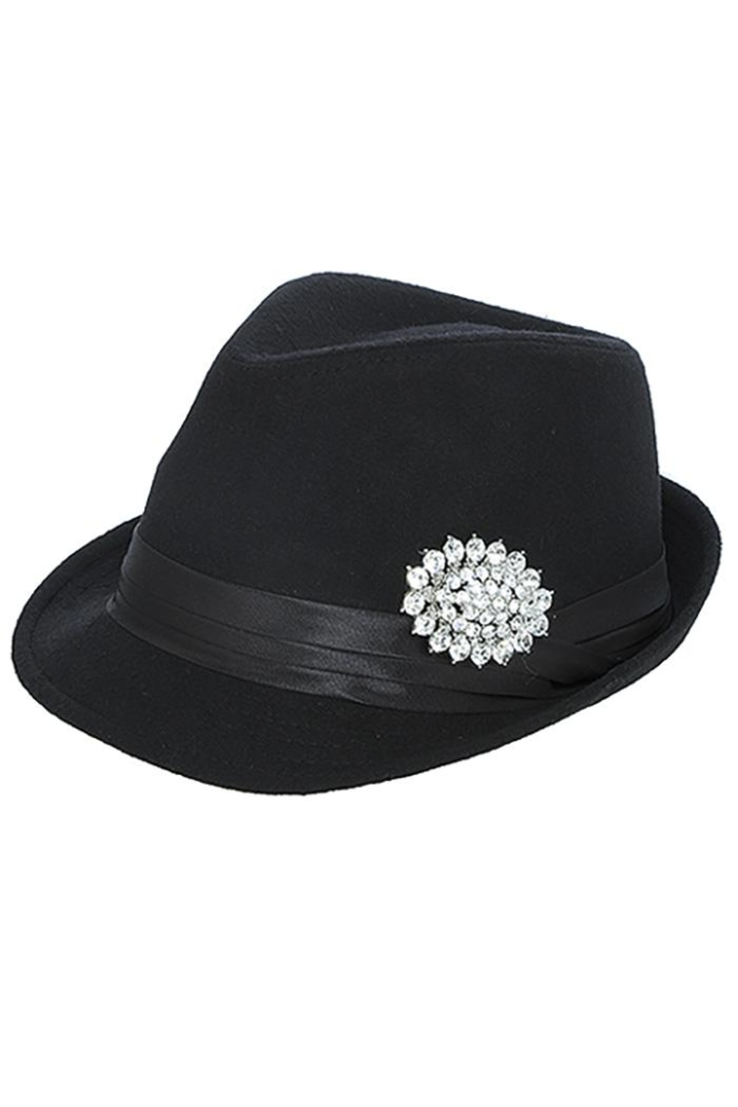 The Hatter Company Faux Jeweled Fedora - Main Image