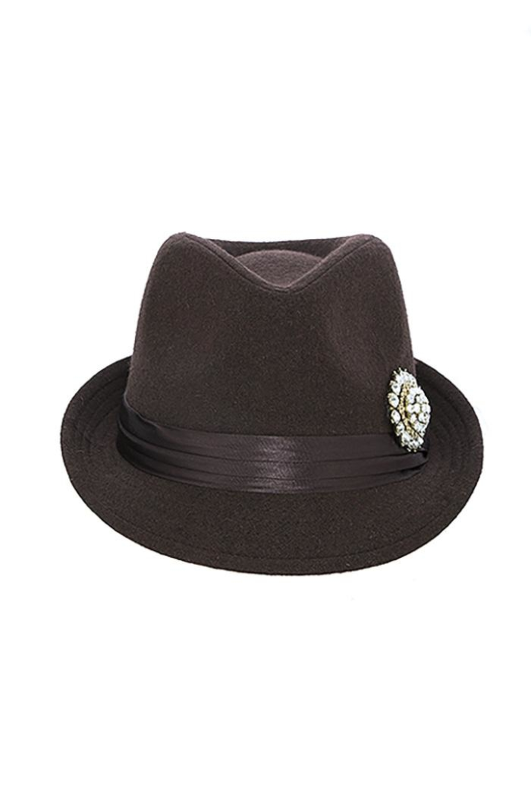 The Hatter Company Faux Jeweled Fedora - Front Cropped Image