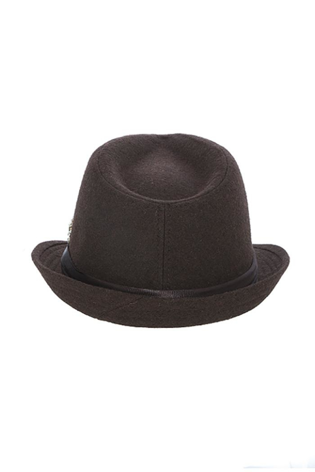 The Hatter Company Faux Jeweled Fedora - Side Cropped Image