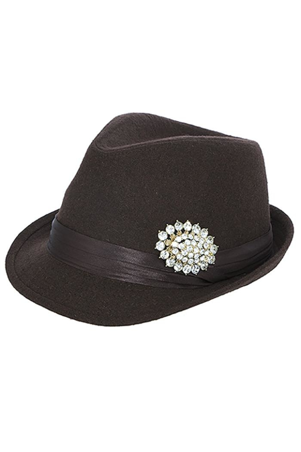 The Hatter Company Faux Jeweled Fedora - Back Cropped Image