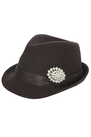 The Hatter Company Faux Jeweled Fedora - Back cropped