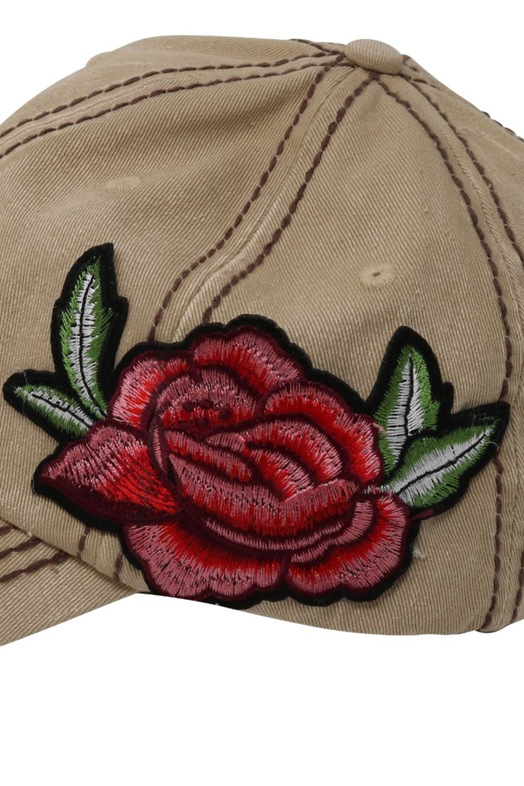 The Hatter Company Floral Baseball Cap - Front Full Image