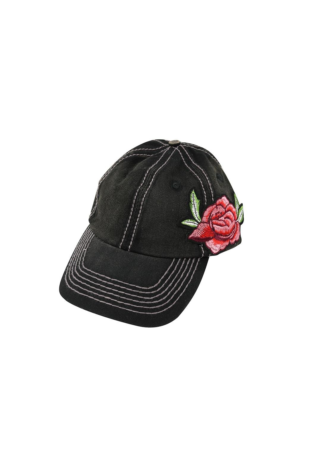 The Hatter Company Floral Baseball Cap - Front Cropped Image