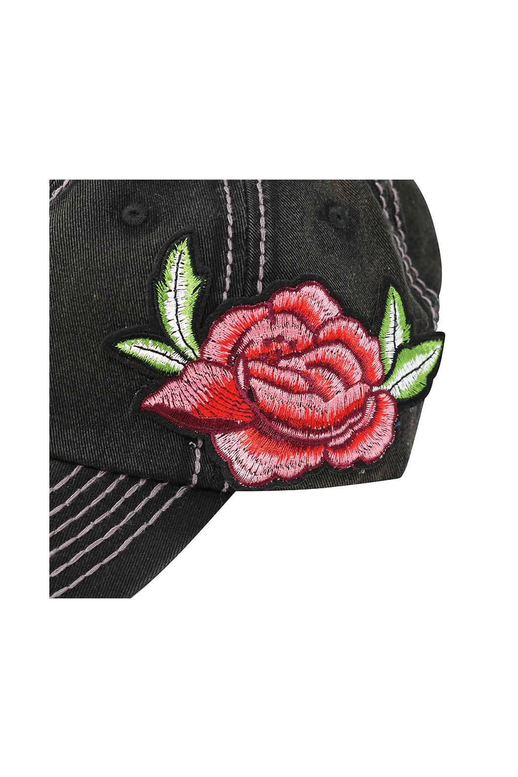 The Hatter Company Floral Baseball Cap - Back Cropped Image