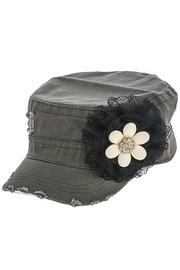 The Hatter Company Floral Military Cap - Product Mini Image