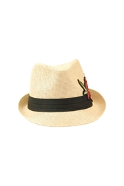The Hatter Company Floral Patch Fedora Hat - Front full body