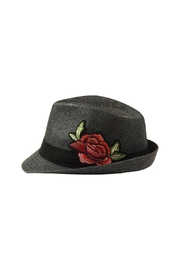 The Hatter Company Floral Patch Fedora Hat - Front cropped
