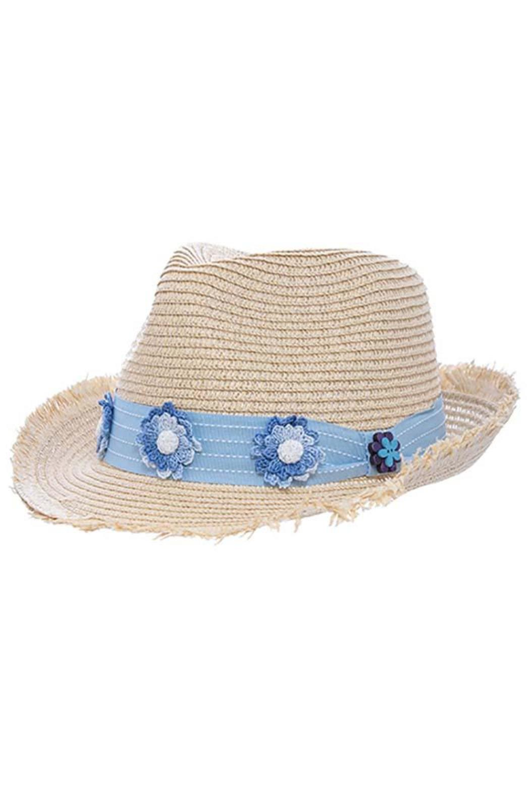 The Hatter Company Floral Woven Hat - Main Image