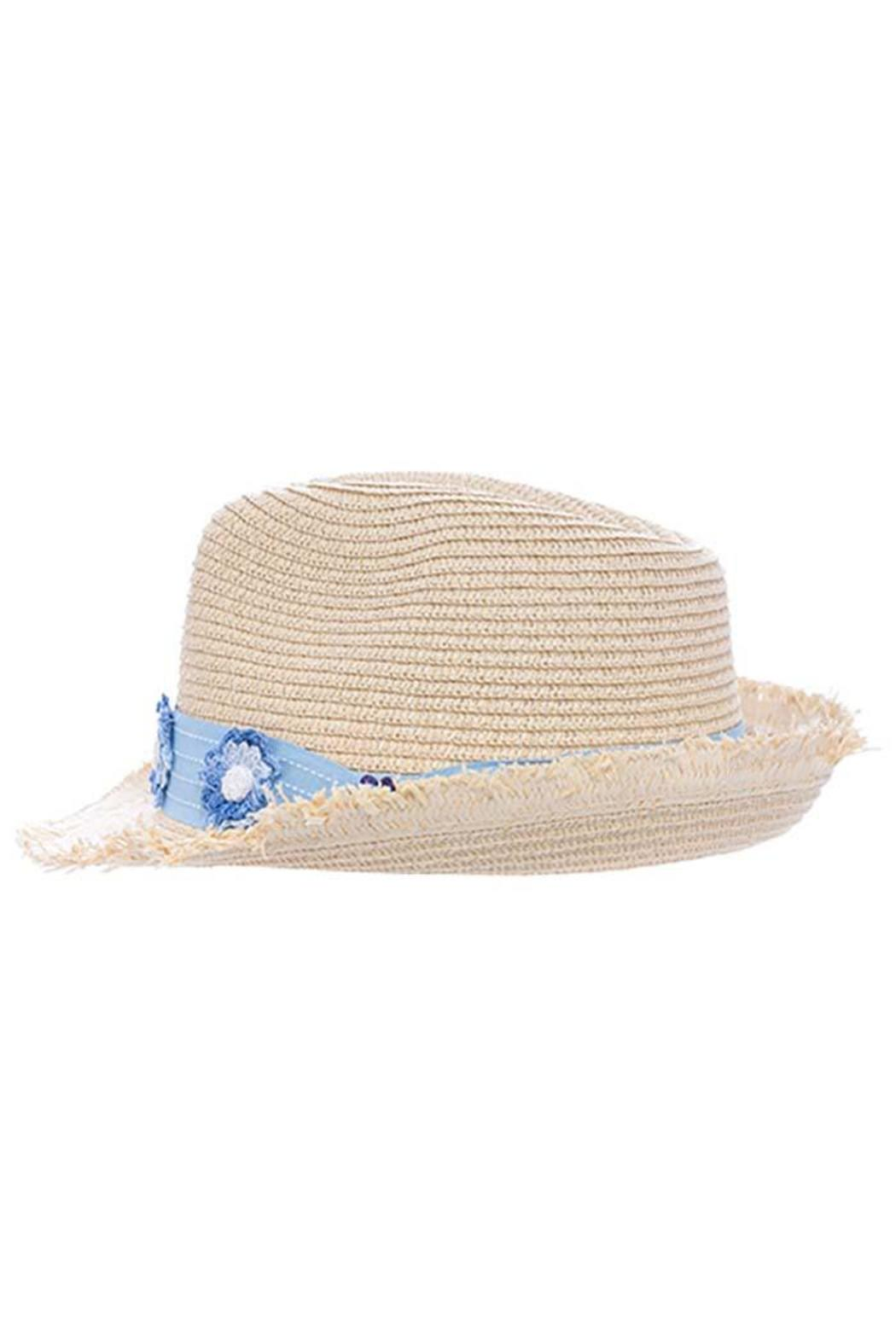 The Hatter Company Floral Woven Hat - Back Cropped Image
