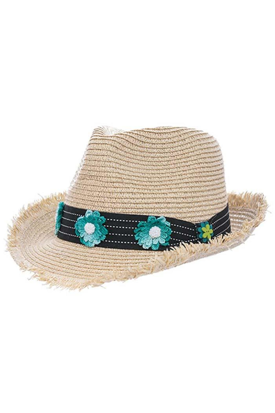 The Hatter Company Floral Woven Hat - Front Cropped Image