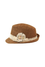 The Hatter Company Lace Accent Fedora Hat - Product Mini Image