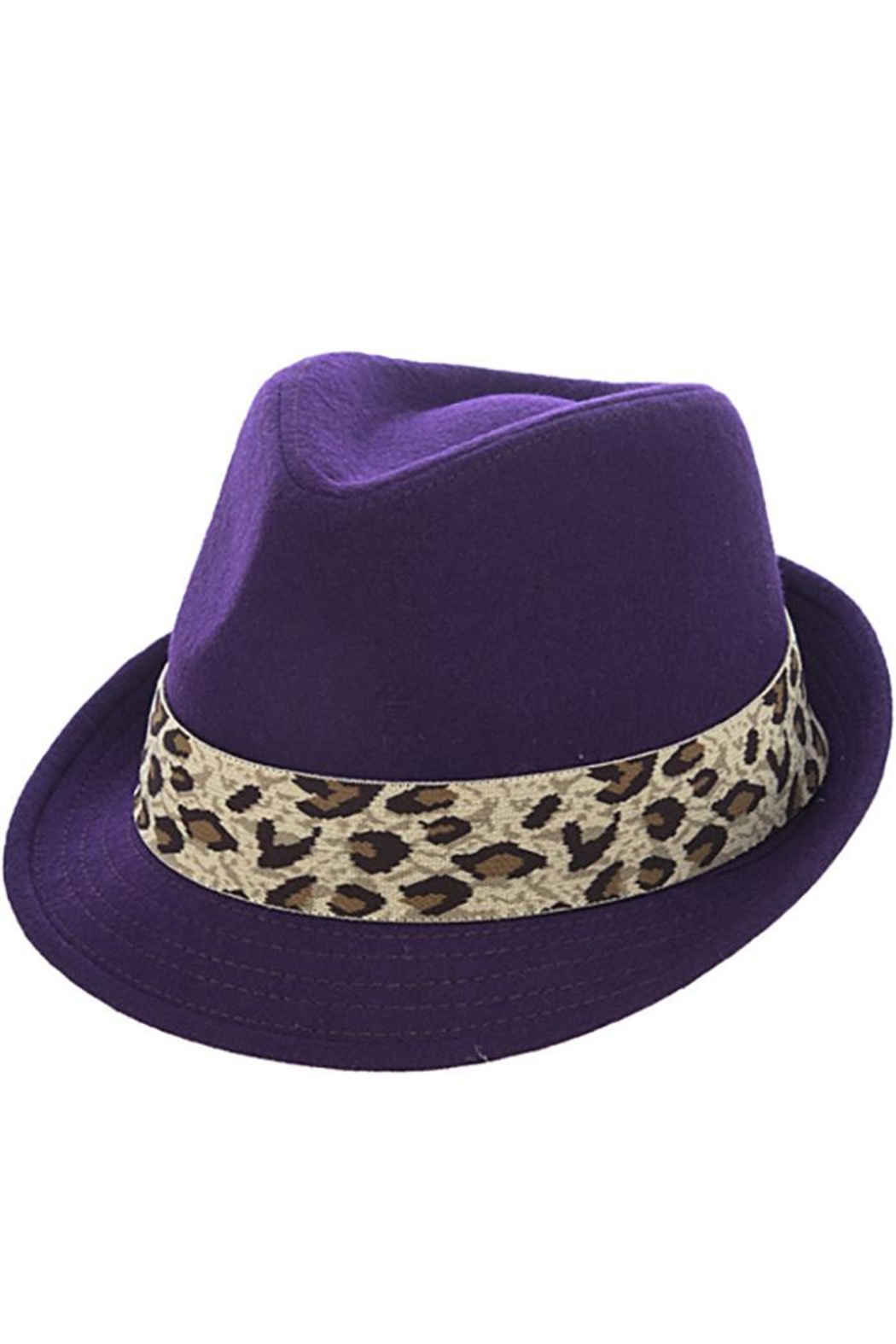The Hatter Company Leopard Print Band-Fedora - Main Image