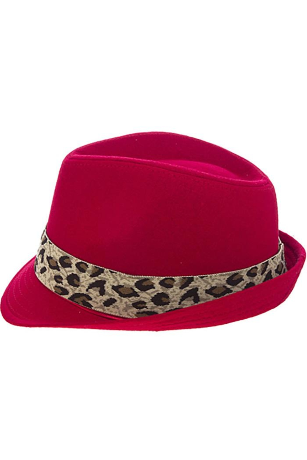 The Hatter Company Leopard Print Band-Fedora - Front Full Image
