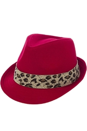 The Hatter Company Leopard Print Band-Fedora - Other